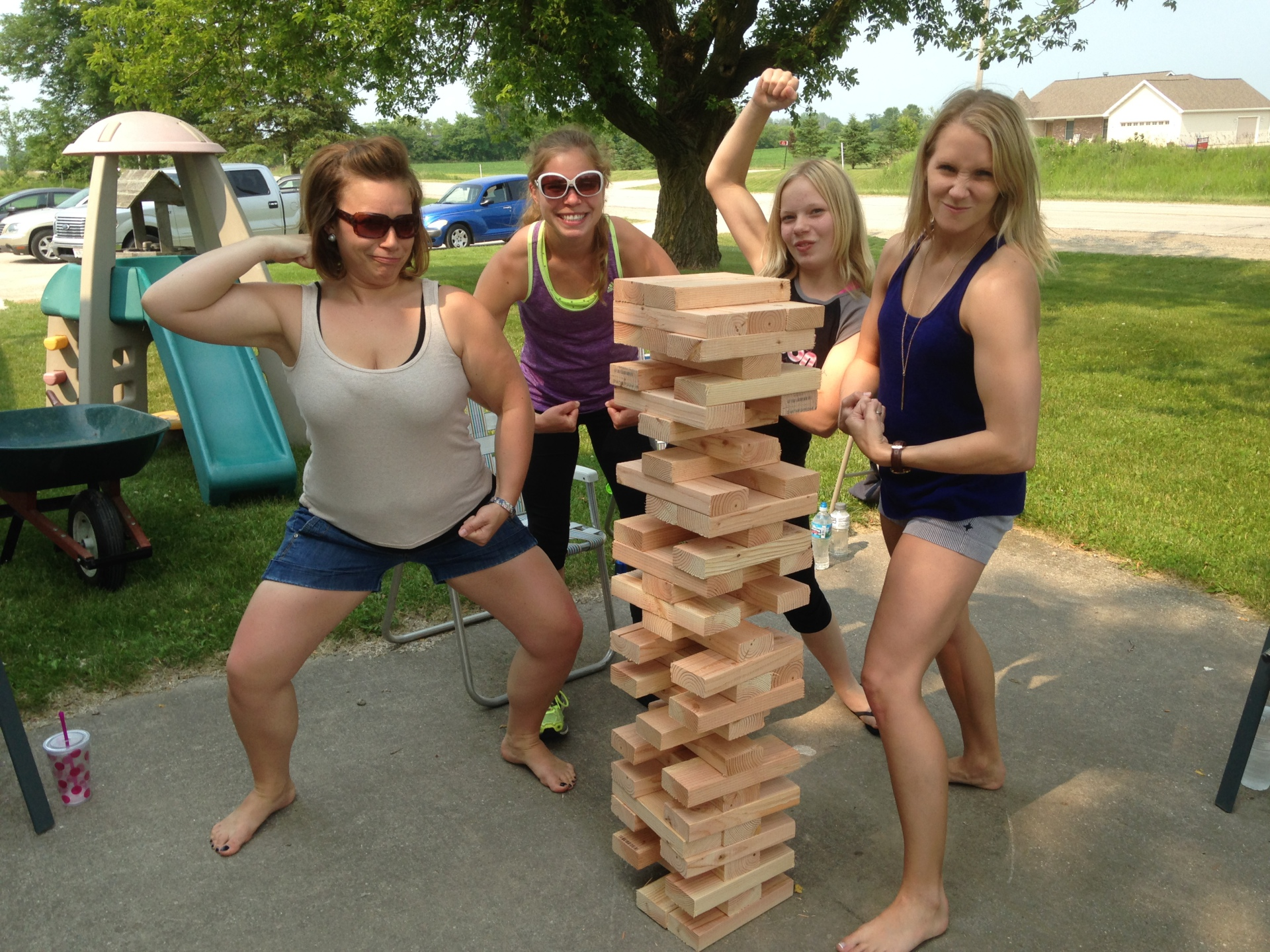 Giant Jenga in Action